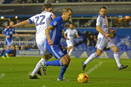 Birmingham City defender Jonathan Spector (23) on the attack 0-0 during the EFL Sky Bet Championship match between Birmingham City and Ipswich Town at St Andrews, Birmingham