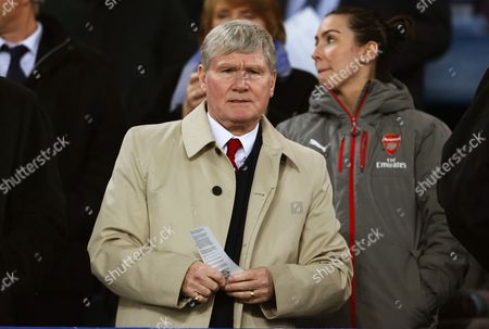 Former Arsenal assistant manager Pat Rice watches from the stand