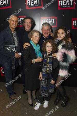 Michael Le Poer Trench, Robert Mackintosh (Producer), Diana Gladys, Cameron Mackintosh, Maximilian Mackintosh and Angel Mackintosh