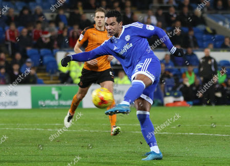 Kieran Richardson of Cardiff City fires a shot at goal