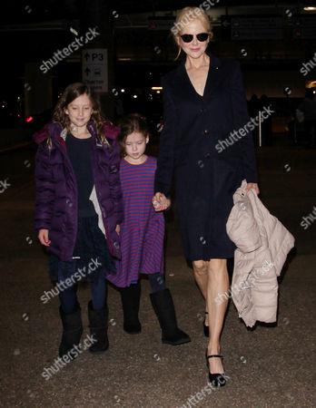 Editorial image of Nicole Kidman at LAX International Airport, Los Angeles, USA - 13 Dec 2016