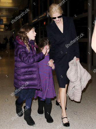 Nicole Kidman and daughters Faith Urban, Sunday Rose Urban