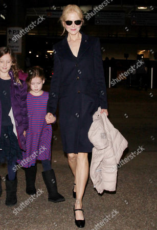 Stock Picture of Nicole Kidman and daughters Faith Urban, Sunday Rose Urban