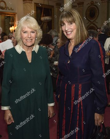 Stock Picture of Camilla Duchess of Cornwall with Dame Caroline McCall from Easyjet