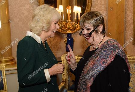 Stock Photo of Camilla Duchess of Cornwall with presenter Jenni Murray