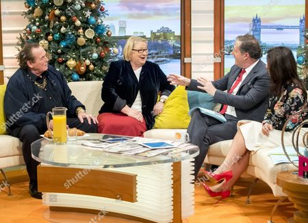 Bobby George and Rosemary Shrager with Piers Morgan and Susanna Reid