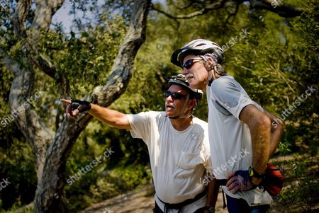Frank Hudson (l) and Peter Moffat (r) of Goleta Watch the Jesusita Fire Burn On Its Second Day in the Foothills Above Santa Barbara California Usa 06 May 2009 Thousands of People Were Ordered to Evacuate Their Homes On 05 May As Fire Crews Work to Contain the Blaze