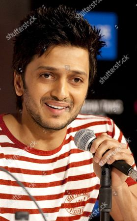 Indian Actor Riteish Deshmukh Speaks to the Press at the Launch of the Movie 'Do Knot Disturb' On the Second Day of the of the Iifa (international Indian Film Academy) Awards Weekend at the Venetian Casino Resort in Macau China 12 June 2009 the Iifa Awards Are Often Referred to As the Bollywood Oscars Celebrating the International Nature of Indian Cinema This Marks the 10th Year of the Awards Which Are Held in a Different Country Each Year