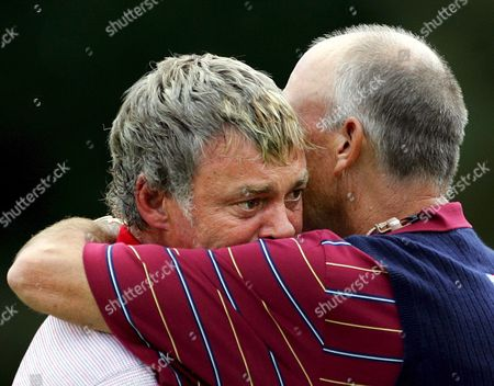 Editorial photo of Darren Clarke of Ireland Receives a Hug From Usa Captain Tom Lehman - 24 Sep 2006