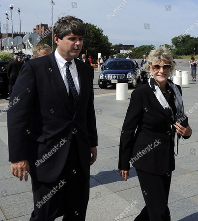 William Kennedy Smith and Jean Kennedy Smith (r) Arrive at the John F Kennedy Library in Boston Massachusetts where Senator Edward Kennedy Will Lie in Repose Until Later This Afternoon 28 August 2009 Senator Edward Kennedy 77 Died 25 August 2009 After a Battle with Brain Cancer