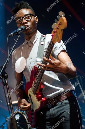 Bassist Gbenga Adelekan of British Electronic Music Band Metronomy Performs at the Solidays Music Festival On the Outskirts of Paris France 28 June 2009 the Annual Solidays Festival Which is Aimed at Raising Funds For the Fight Against Aids Celebrates Its 11th Edition This Year