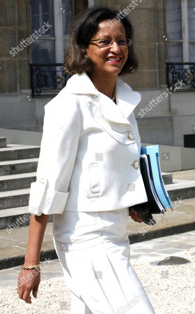 New French Secretary of State in Charge of Overseas Department Marie-luce Penchard Leaves After Taking Part in the French Council Ministers at the Elysee Palace in Paris France 01 July 2009