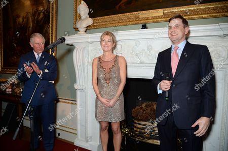 Prince Charles, Savile Row shirt maker Emma Willis and Lt Alex Horsfall