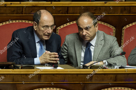 Stock Image of Senators Renato Schifani, Domenico Scilipoti