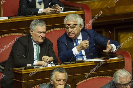 Senators Vincenzo D'Anna, Denis Verdini