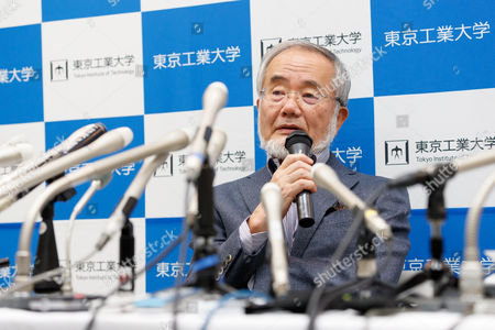 Stock Picture of Professor Yoshinori Ohsumi, winner of the Nobel Prize in Physiology or Medicine 2016