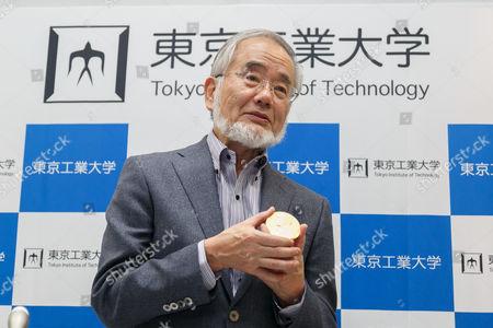 Stock Photo of Professor Yoshinori Ohsumi, winner of the Nobel Prize in Physiology or Medicine 2016