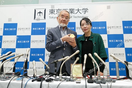 Editorial picture of Nobel Prize in Physiology or Medicine winner press conference, Tokyo, Japan - 14 Dec 2016