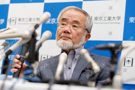Stock Image of Professor Yoshinori Ohsumi, winner of the Nobel Prize in Physiology or Medicine 2016