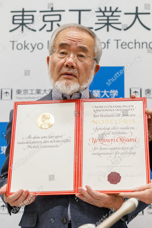 Professor Yoshinori Ohsumi, winner of the Nobel Prize in Physiology or Medicine 2016