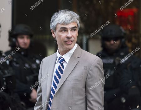 Meeting of technology leaders - Alphabet CEO Larry Page is seen outside Trump Tower