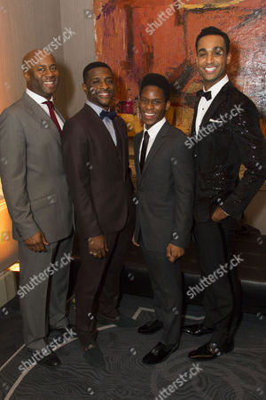 Nicholas Bailey (Marty), Adam J Bernard (Jimmy Early), Tyrone Huntley (CC White) and Joe Aaron Reid (Curtis Taylor Jr)