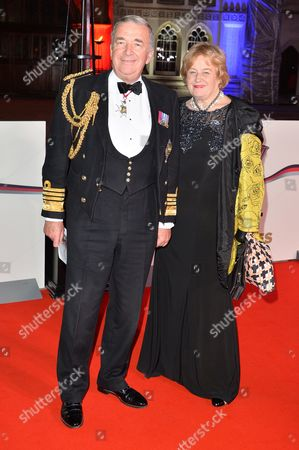 Admiral Sir Alan West, The First Sea Lord, and his wife Rosemary
