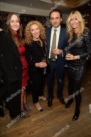 Stock Image of Alaia de Santis, Kelly Hoppen, Nicolas De Santis and Melissa Odabash
