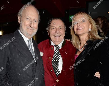 Stock Image of Ed Victor, Barry Humphries and Lizzie Spender