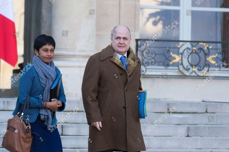 French Minister for Overseas France, Ericka Bareigts and French Interior Minister, Bruno Le Roux