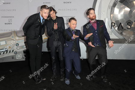 Stock Photo of Dan Reynolds, Daniel Wayne Sermon, Ben McKee and Daniel Platzman of Imagine Dragons
