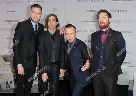 Stock Picture of Dan Reynolds, Daniel Wayne Sermon, Ben McKee and Daniel Platzman of Imagine Dragons