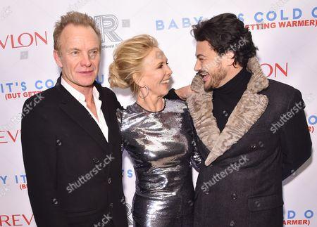 Sting, Trudie Styler, and Vittorio Grigolo
