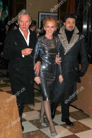 Sting, Trudie Styler and Vittorio Grigolo
