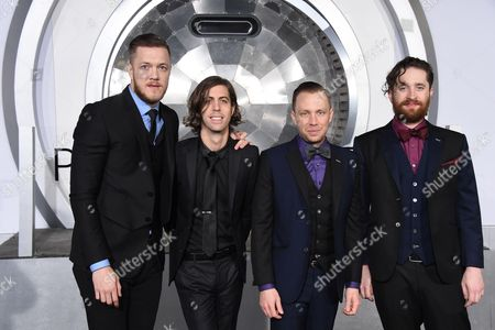 Dan Reynolds, Daniel Wayne Sermon, Ben McKee and Daniel Platzman of Imagine Dragons