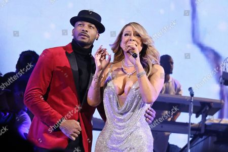 Stock Photo of Mariah Carey and Anthony Burrell