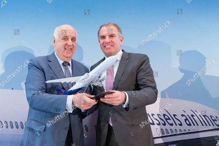 Etienne Davignon and Carsten Spohr (CEO Lufthansa)