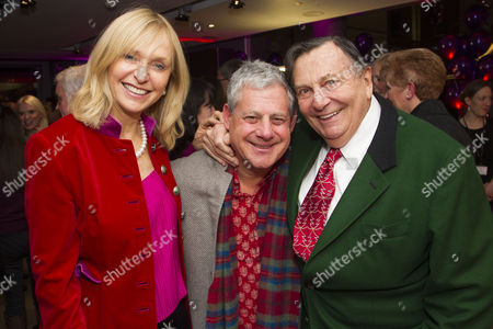Lizzie Spender, Cameron Mackintosh and Barry Humphries