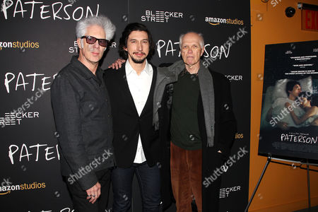 Stock Picture of Jim Jarmusch, Adam Driver and Ron Padgett