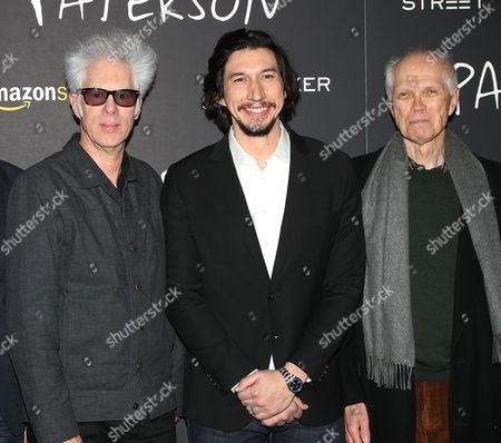 Jim Jarmusch, Adam Driver and Ron Padgett