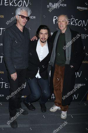 Stock Image of Jim Jarmusch, Adam Driver and Ron Padgett