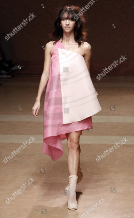 A Model Wears a Creation As Part of the Estrella Archs Ready to Wear Spring/summer 2011 Collection Presented During the Paris Fashion Week in Paris France 03 October 2010 the Fashion Week Runs From 28 September to 06 October France Paris