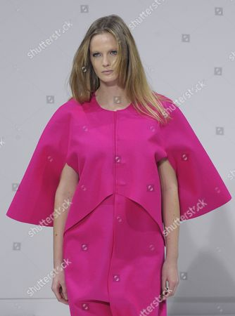 A Model Presents a Creation by Spanish Designer Estrella Archs During the Presentation of the Paris Fashion Week Fall-winter 2011/12 Ready-to-wear Collection in Paris France 06 March 2011 the Fashion Week Runs From 01 March to 09 March 2011 France Paris