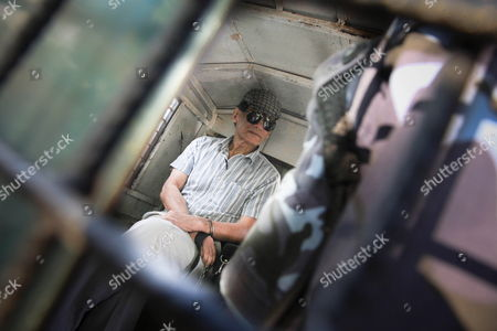 Stock Image of French Serial Killer Charles Sobhraj Sits Inside a Police Vehicle After His Hearing at the District Court in Kathmandu Nepal 31 May 2011 Sobraj Nicknamed 'Bikini Killer' is Linked to a Series of Backpacker Killings in Asia in the 1970s Sobraj Has Been Sentenced to Life Imprisonment in 2004 Nepal Kathmandu