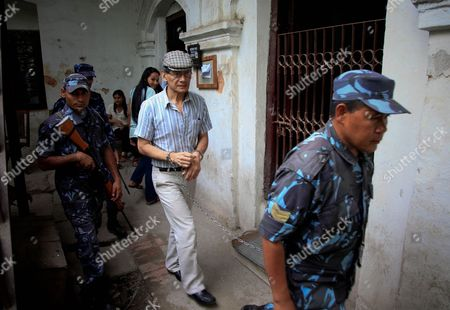 French Serial Killer Charles Sobhraj is Escorted by Nepalese Police After His Hearing at the District Court in Kathmandu Nepal 31 May 2011 Sobraj Nicknamed 'Bikini Killer' is Linked to a Series of Backpacker Killings in Asia in the 1970s Sobraj Has Been Sentenced to Life Imprisonment in 2004 Nepal Kathmandu