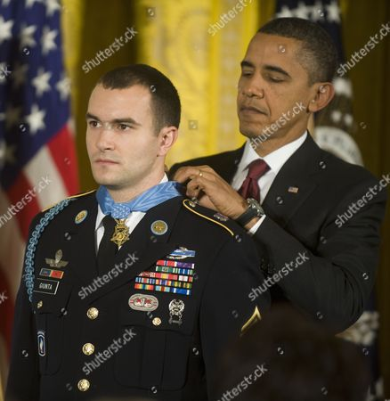 Stock Picture of Us President Barack Obama Awards Army Staff Sergeant Salvatore Giunta the Medal of Honor For Conspicuous Gallantry the Highest Award For Valor Bestowed Upon an Individual Serving in the U S Armed Forces in the East Room of the White House on 16 November 2010 Giunta is the First Time Living Recipient of the Medal Since the Vietnam War Giunta Earned the Medal of Honor For His Actions in Afghanistan United States Washington