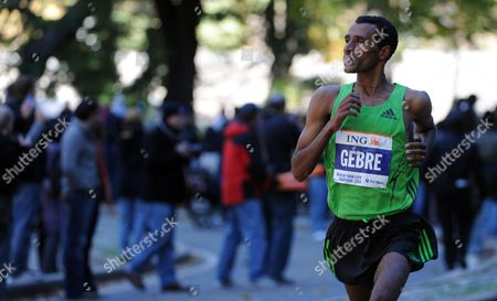 Gebre Gebremariam of Ethiopia is Seen During the 2010 New York City Marathon in New York New York Usa on 07 November 2010 United States New York