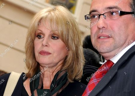 British Actress Joanna Lumley (l) with British Immmigration Minister Phil Woolas Following a Meeting in London Britain 07 May 2009 Phil Woolas Sought to 'Reassure' Joanna Lumley That Rulings Rejecting Former Gurkha Soldiers' Rights to Settle in the Britian Will Be Reconsidered During Their Meeting 07 May the Immigration Minister Held a Hasty Meeting with the Actress and Gurkha Campaigner in the Bbc's Westminster Office to Discuss the Verdicts