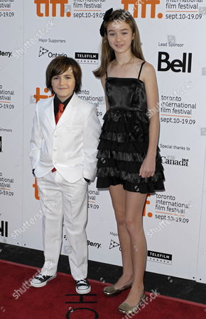 Canadian Actors Quinn Lord (l) and Cassandra Sawtell Pose On the Red Carpet For a Screening of Their Film 'The Imaginarium of Doctor Parnassus' at the 34th Annual Toronto International Film Festival in Toronto Canada On 18 September 2009