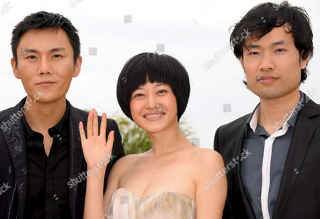 L-r Actors Qin Hao Tan Zhuo and Wei Wu Attend a Photocall For the Chinese Film 'Chun Feng Zui De Ye Wan' (spring Fever) by Lou Ye Running in Competition For the 62nd Edition of the Cannes Film Festival in Cannes France 14 May 2009